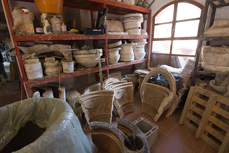 石膏型の保管場所